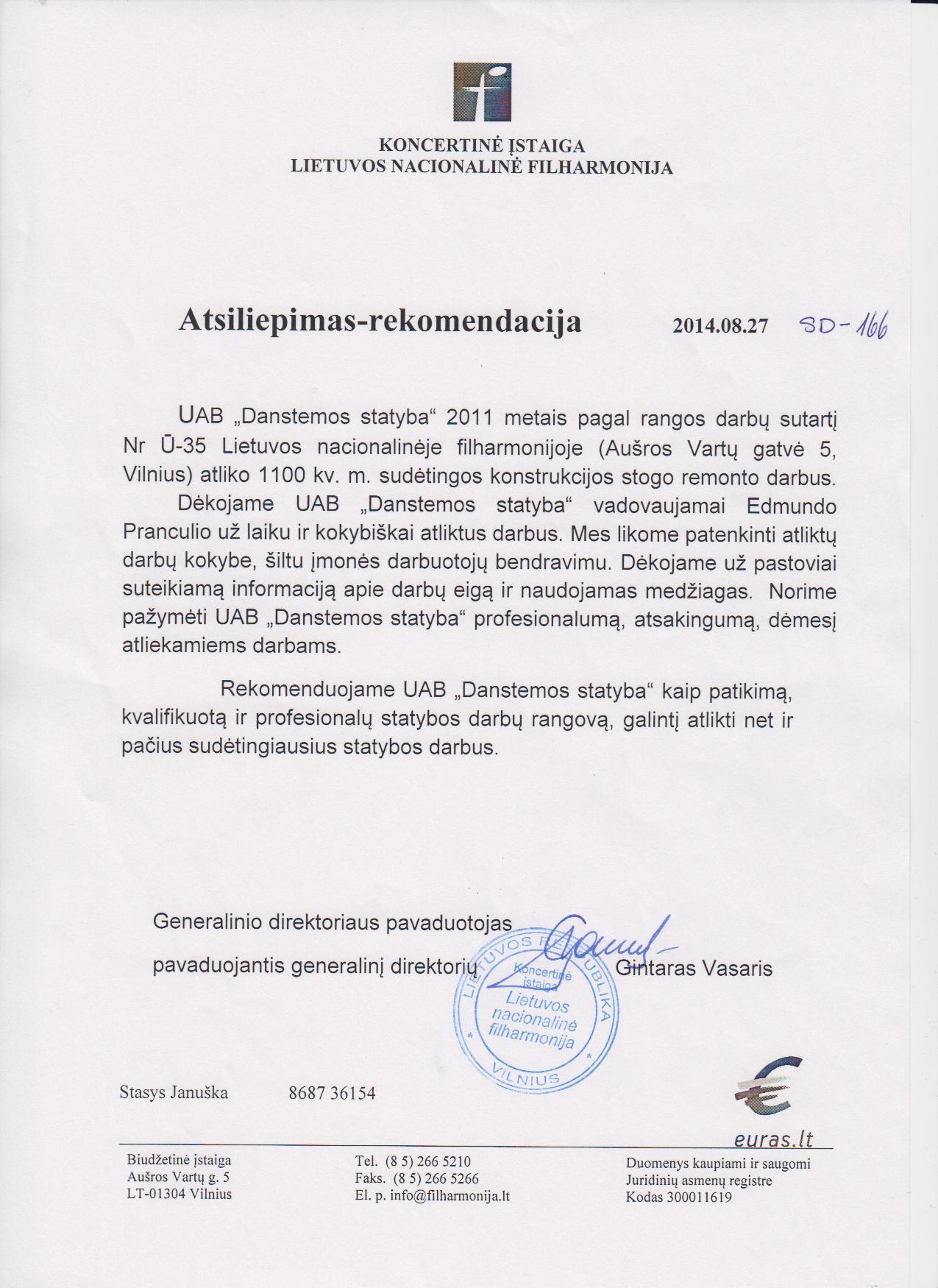 Lietuvos nacionalinė filharmonija atsiliepimas